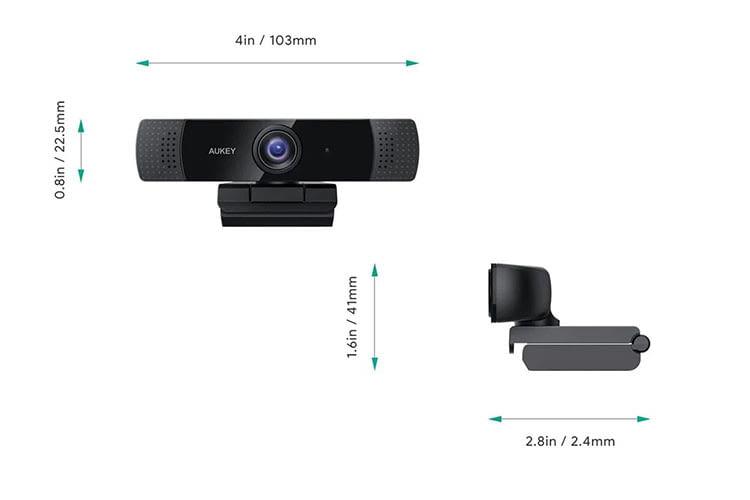 Die AUKEY PC-LM1E Webcam wird per Clip am Monitor befestigt