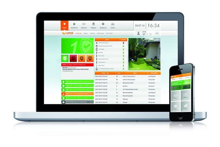 Mit der LUPUSEC App lassen sich alle Sicherheitsfunktionen einfach verwalten