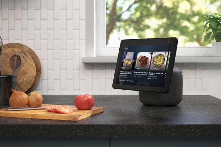 Ein beliebter Einsatz von Smart Displays ist in der Küche