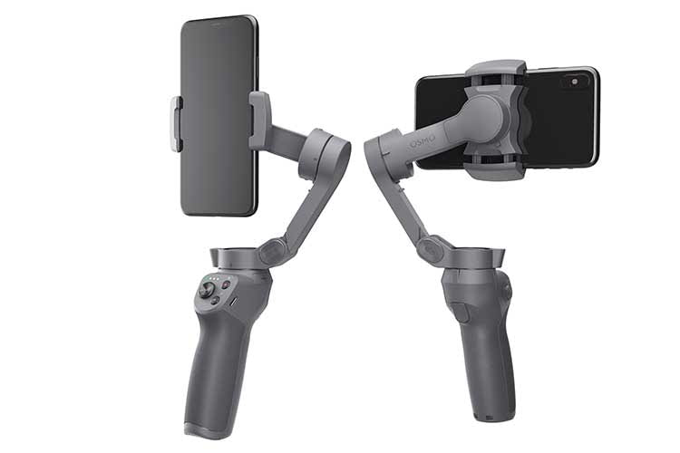 Die Bedientasten von DJI OSMO MOBILE 3 sind übersichtlich und gut erreichbar am Gimbal-Griff angebracht
