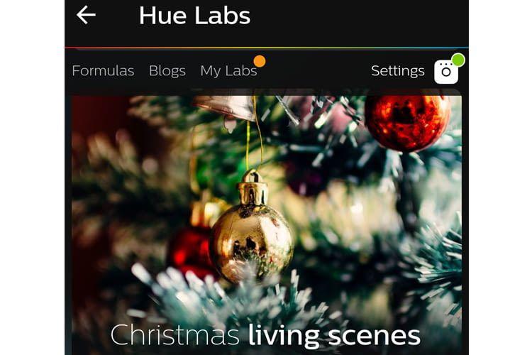 Christmas living scenes aus den Hue Labs-Szenen