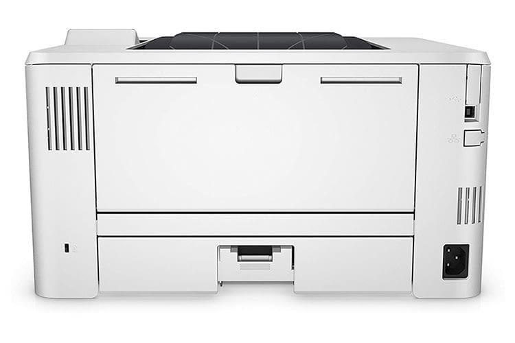 Der Laserdrucker HP LaserJet Pro M402dne gibt sich aufgeräumt und gut verarbeitet