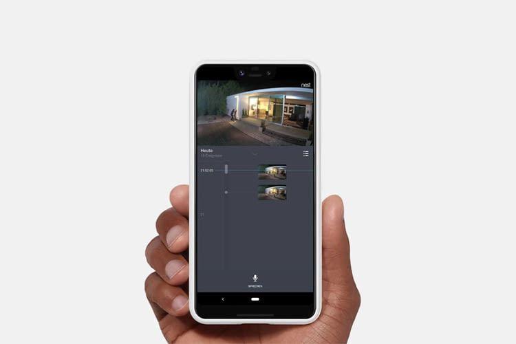 Per App lassen sich jederzeit Live-Bilder der Überwachungskamera abrufen