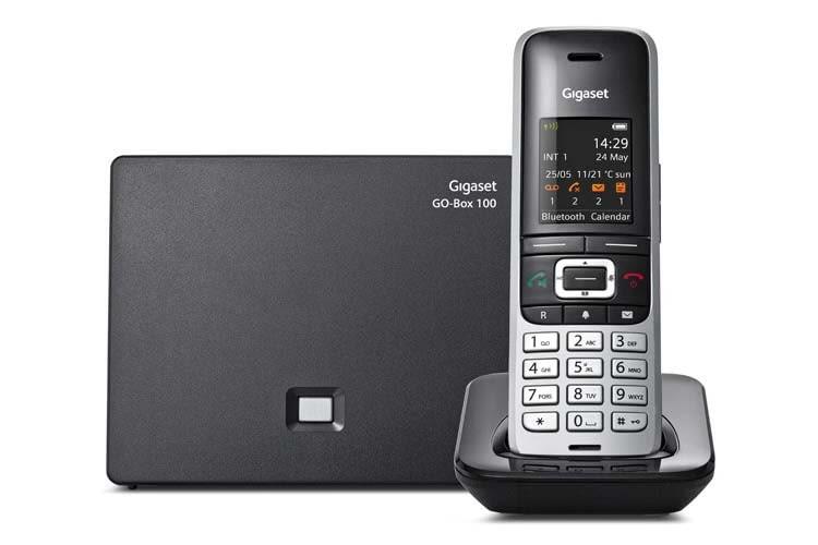 Das Gigaset S850A GO ist ein Hybrid-DECT-Telefon für analoge und IP-Telefonie