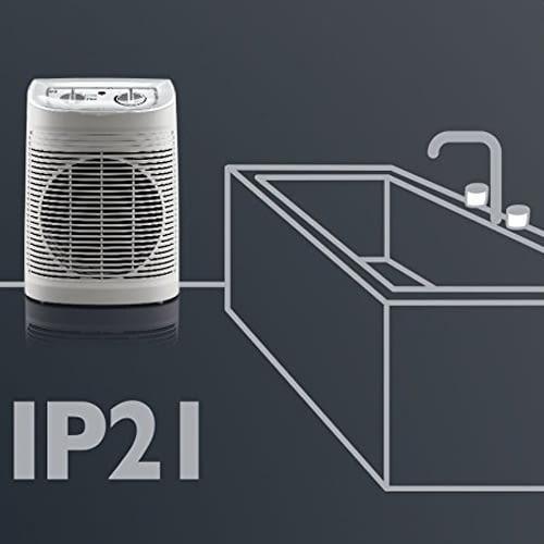 ROWENTA Instant Comfort Aqua entspricht Schutzklasse IP 21 und eignet sich damit hervorragend als Bad-Heizlüfter