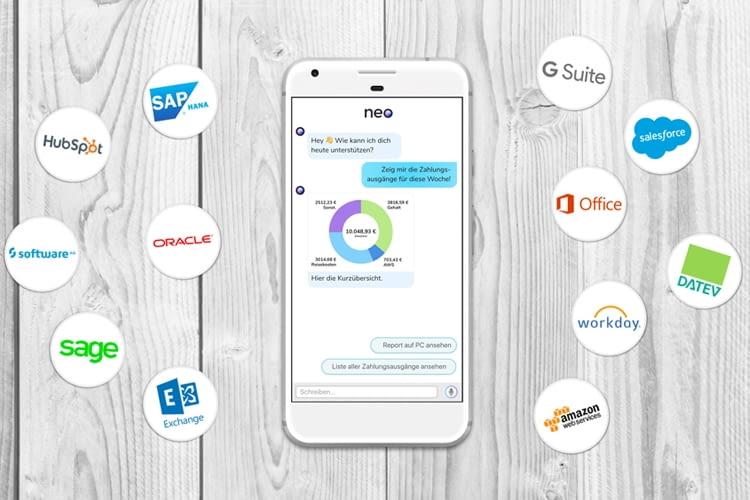 Neo ist kompatibel mit Systemen wie SAP, Exchange oder Microsoft Office