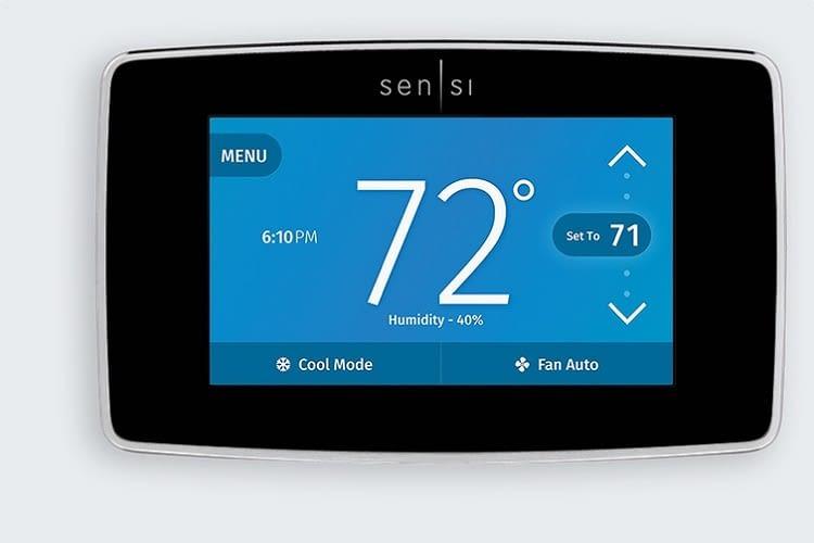 Alle wichtigen Daten auf einen Blick mit dem Sensi Touch Wi-Fi Thermostat