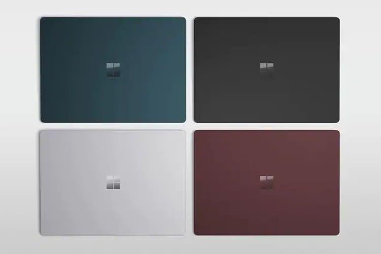 Microsofts Surface Laptop 2 ist in 4 verschiedenen Farbkombinationen erhältlich