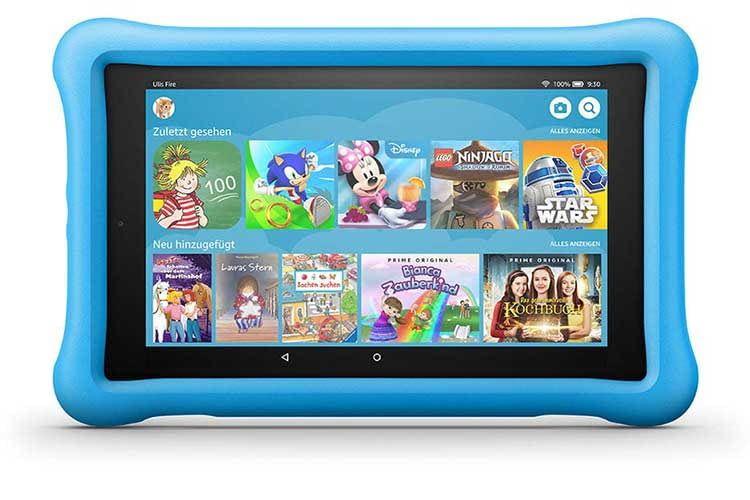 Das Tablet Amazon Fire HD 8 Kids Edition bietet sicheres Entertainment für den Nachwuchs