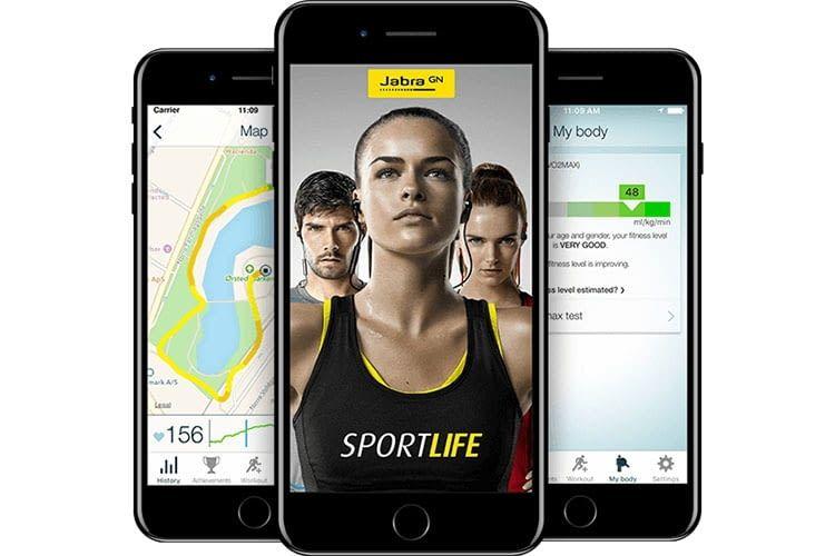 Die App zum In-Ear-Bluetooth-Lautsprecher Jabra Elite Sport wertet das letzte Workout aus