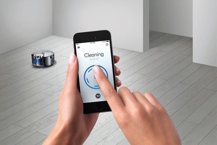 Die App macht die Fernsteuerung des Dyson 360 Eye Saugroboters möglich