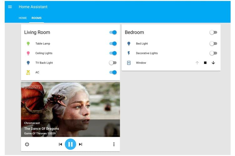 Aufgeräumt und übersichtlich: So präsentiert sich die Web-Oberfläche von Home Assistant