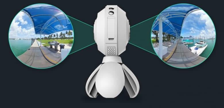 720°-Kameras erstellen Vollwinkelvideos und Bilder, die direkt auf Social Media geteilt werden können