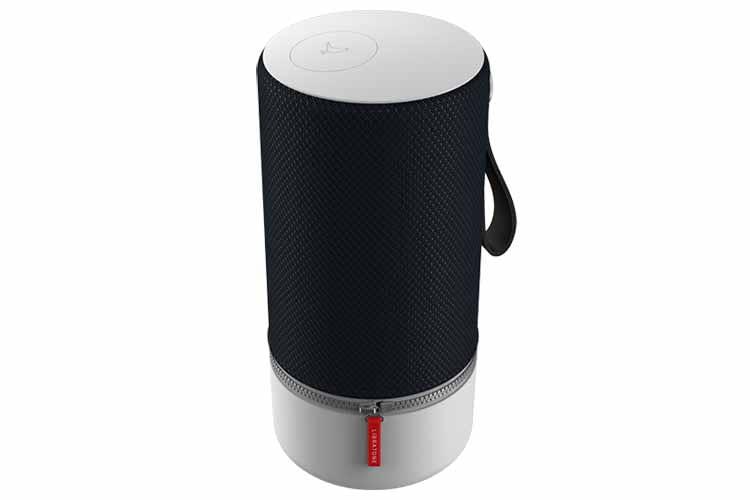 Das Erkennungsmerkmal der Libratone Lautsprecher ist der rote Zipper