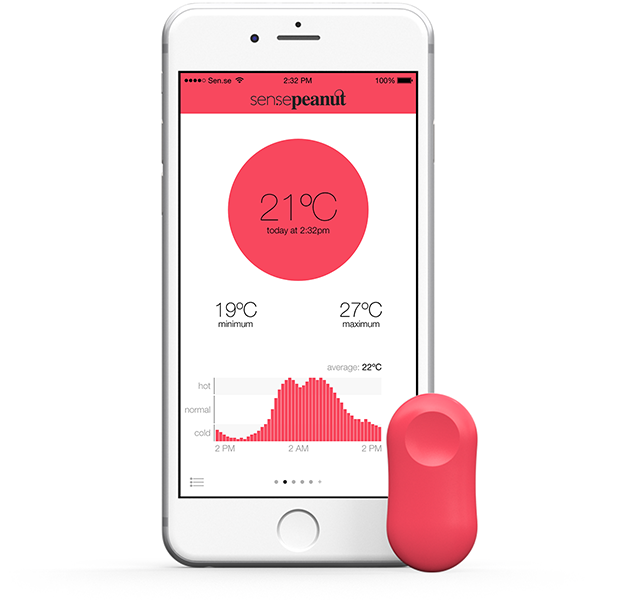 ThermoPeanut App von Sen.se