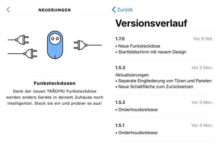 Für iOS hat IKEA seine TRÅDFRI App bereits für Funksteckdosen vorbereitet