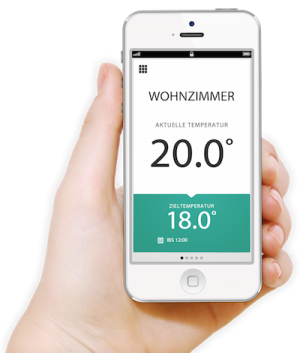 evohome Honeywell iPhone App Darstellung