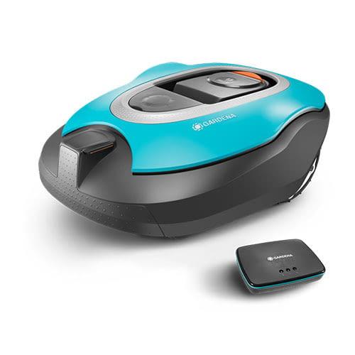 GARDENA smart SILENO Set kommt mit GARDENA smart Gateway, über welche der Roboter mit der Smartphone App kommuniziert