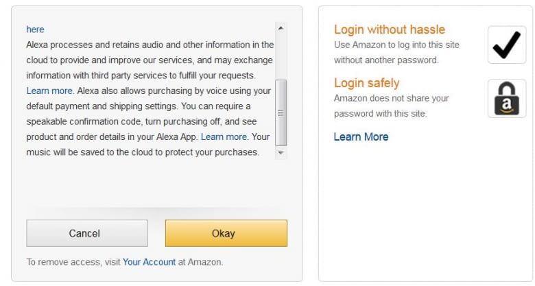 Amazon weist darauf hin, dass man auch Einkäufe mit Alexa tätigen kann