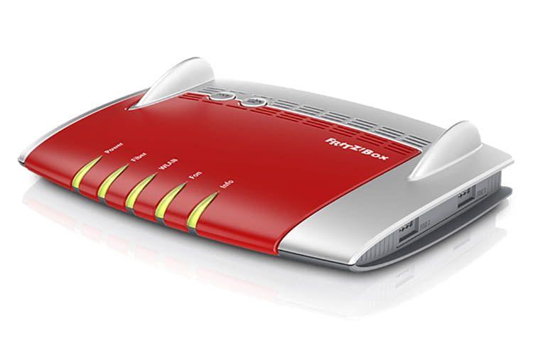 FRITZ!Box 5490 leistet Übertragungsraten von bis zu 1GBit/s - unter idealen Bedingungen
