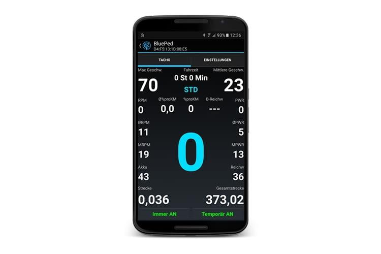 Auch BluePed App und Modul stammen vom selben Hersteller wie das RedPed Modul