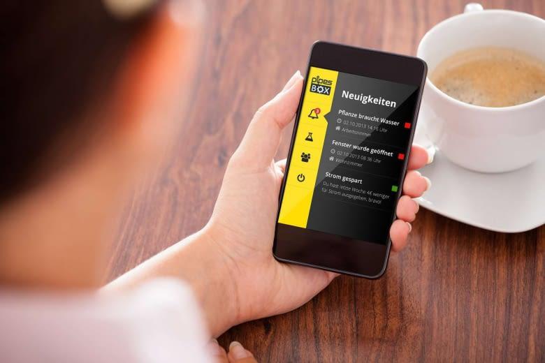 Pipesbox Smartphone App. Steuerung der Pipesbox