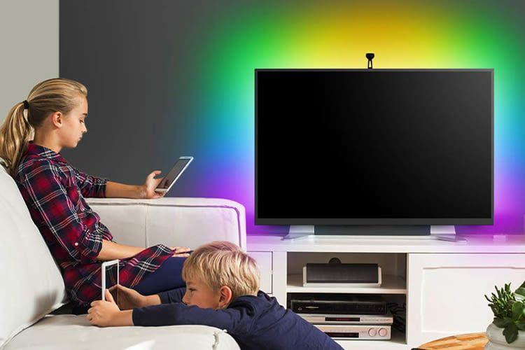 Auch wenn der TV aus ist, kann man mit dem Govee TV Light die Wohnung in den Lieblingsfarben erleuchten