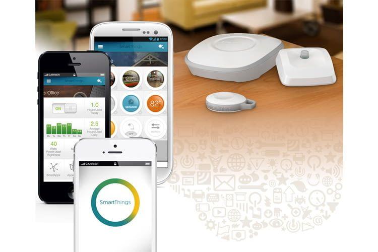 Alle vernetzen Komponenten sind im Samsung SmartThings System auch per App bedienbar