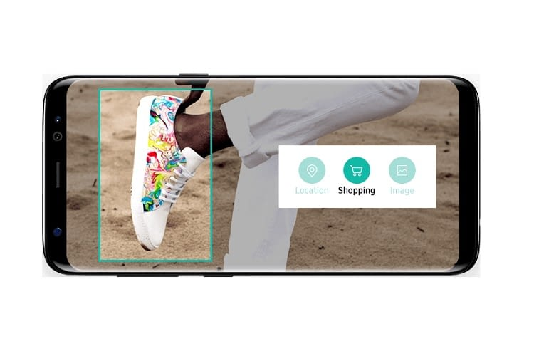 Bixby erkennt Gegenstände und zeigt deren Anbieter