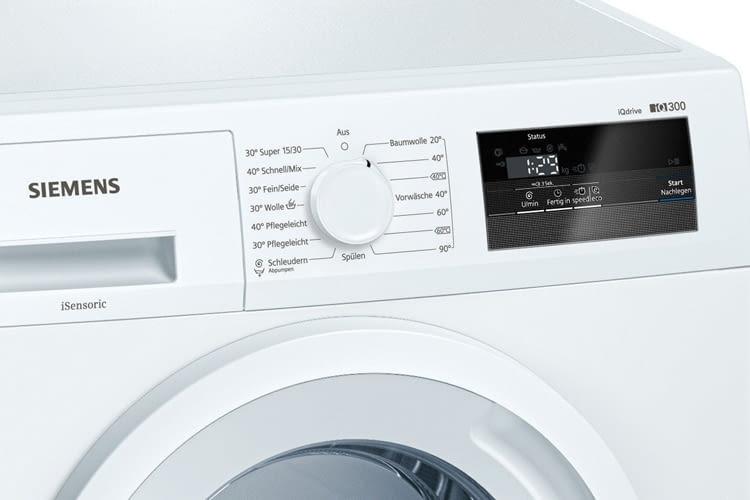 Die Auswahl an Reinigungsprogrammen bei Siemens iQ300 WM14N060 ist groß