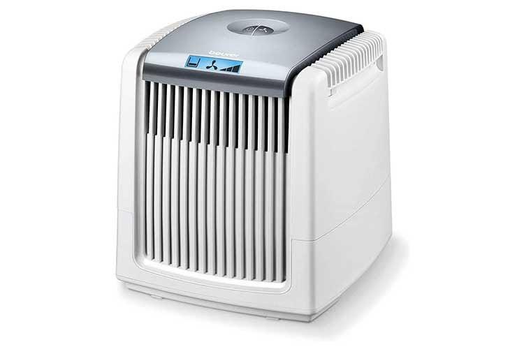 Der beurer LW 230 Luftwäscher hat eine übersichtliche LCD-Anzeige und sieht gut aus