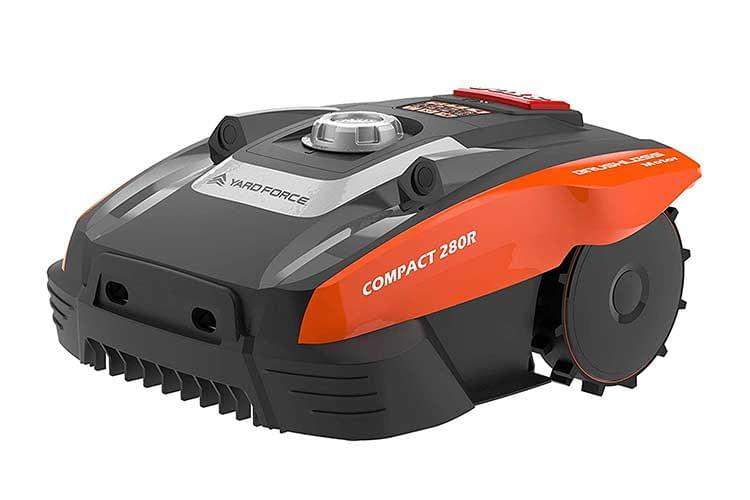 Der Yard Force Compact 280R ist ein familienfreundlicher Mähroboter mit Ultraschallsensor für kleine Gärten oder City-Gärten