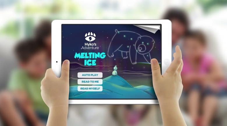 Über die Geschichten und Spiele in der Hyko-App wird Kindern spielerisch das Energiesparen nähergebracht