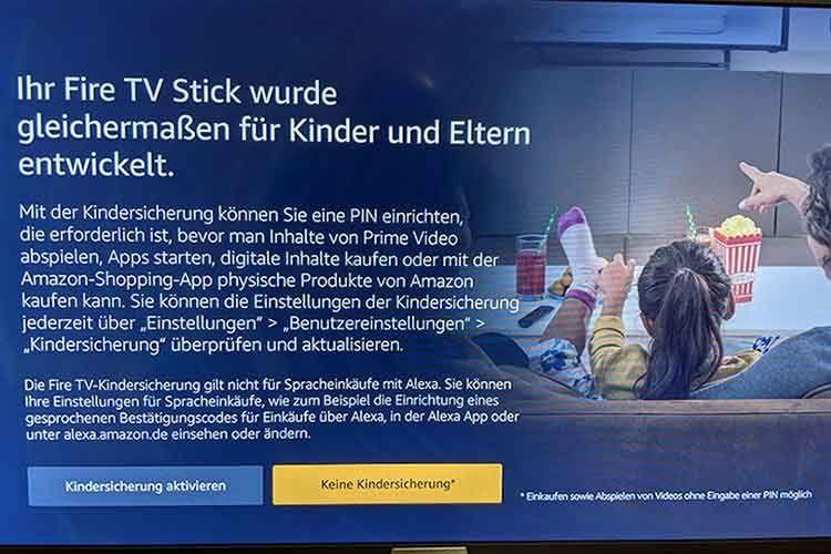 Eine Kindersicherung schützt den Nachwuchs beim Amazon Fire TV Stick vor falschen Inhalten