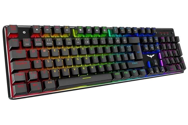 Die havit Mechanische Gaming Tastatur eignet sich insbesondere für Gamer