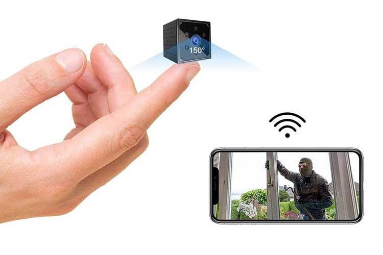 Die Mini Kamera KEAN Q15 verfügt über 6 Infrarot LEDs sowie WLAN