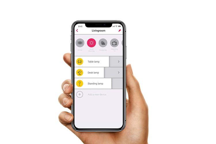Die Filament Lampen sind per Alexa Sprachbefehl, Innr Fernbedienung oder App fernsteuerbar