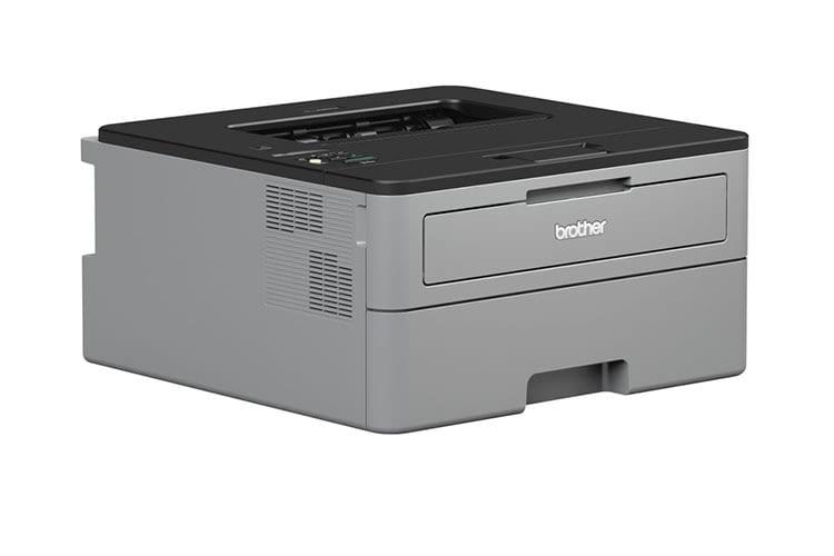 Der Brother HL L2350DW Laserdrucker hat einen im Gehäuse komplett integrierten Papierschacht