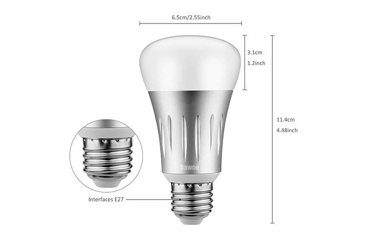 Die Bawoo LED-Leuchte passt in jede herkömmliche E27 Lampenfassung