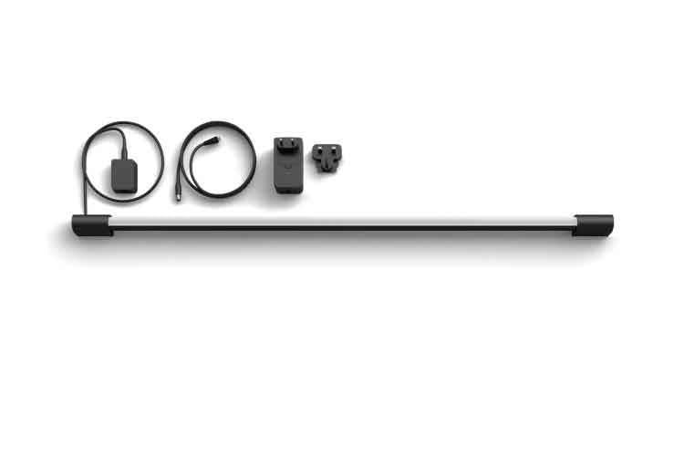 Am Kabel der Philips Hue Play Gradient Light Tube befindet sich die Control Box, die dann mit dem Netzteil verbunden wird