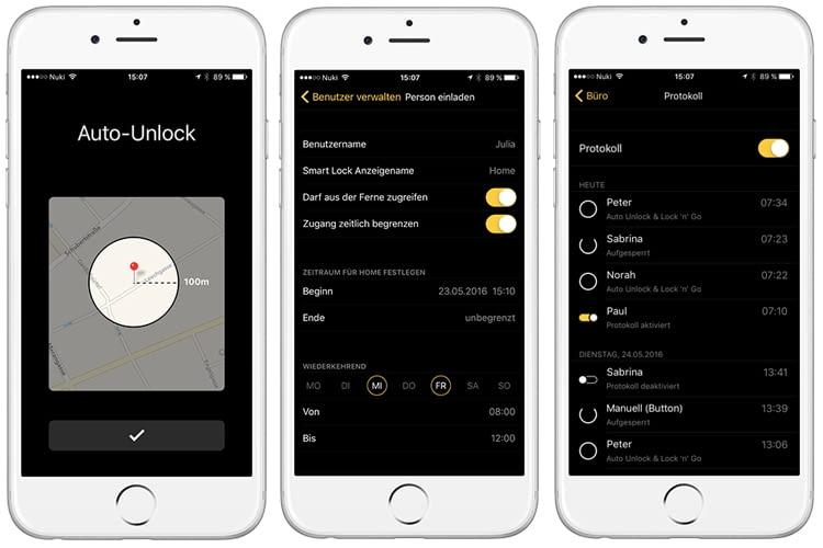 Nuki Smart Lock 2.0 ermöglicht Auto Unlock, Lock'n'Go und die Verwaltung von bis zu 200 Zutrittsberechtigungen