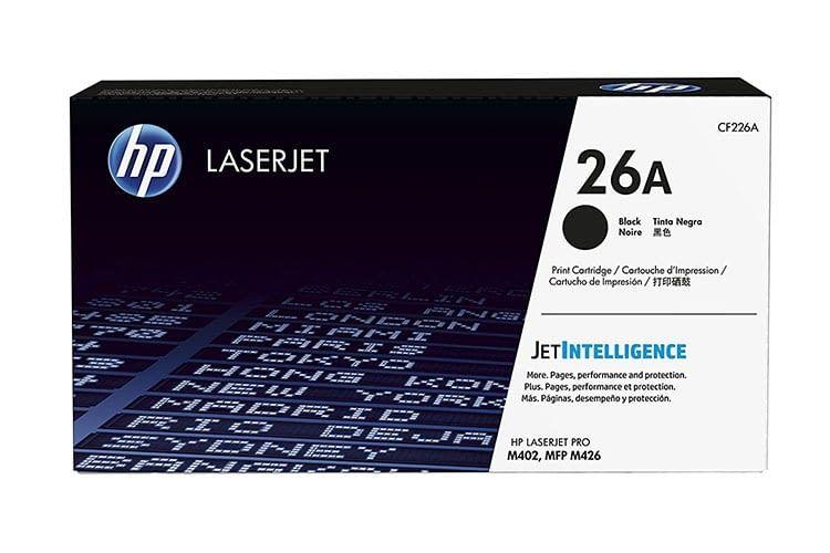 Die Toner-Kartusche HP 26A für den HP LaserJet Pro bietet eine Druckkapazität von 3.100 Seiten