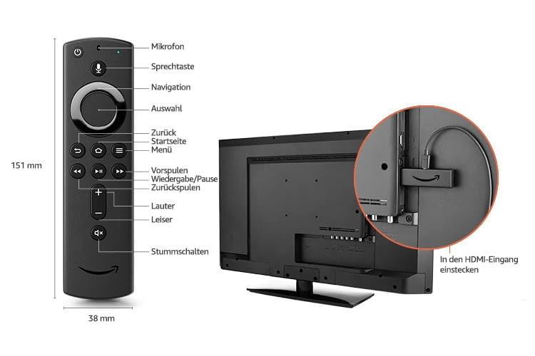 Mit dem Amazon Fire TV Stick 4K kommen UHD-Videos günstig auf den TV