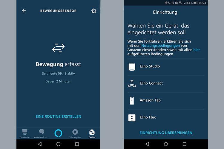 Die Installation des Echo Flex funktionierte einfach, auch der Sensor ist per App kontrollierbar