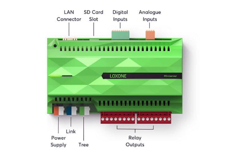 Das Gehirn des Loxone Smart Homes ist der Loxone Miniserver