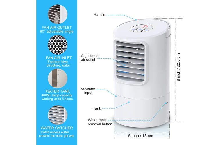 Der Nodebird Mini-Luftkühler erreicht je nach Kühlstufe eine Lautstärke von 45 bis 62 Dezibel