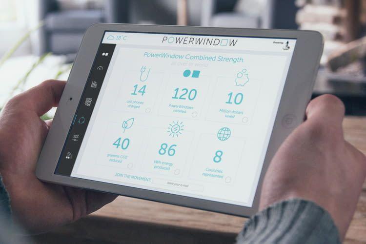 Mit der EESY-App lassen sich beispielsweise die Sensorergebnisse des SmartWindow einsehen
