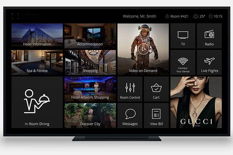 Auch für Smart TVs steht eine BLACK NOVA App bereit, über die sich das Smart Home steuern lässt