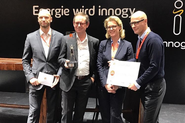 Smappee-Team nach der Preisverleihung des Energy App Awards