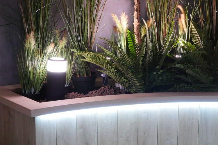 Der Signify Outdoor Lightstrip am Philips Hue-Stand der IFA 2018